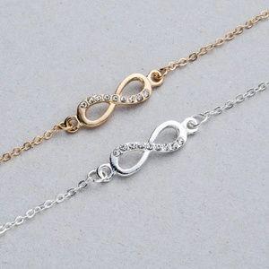Jewelry - 5 for $25 Crystal Studded Infinity Charm Bracelet